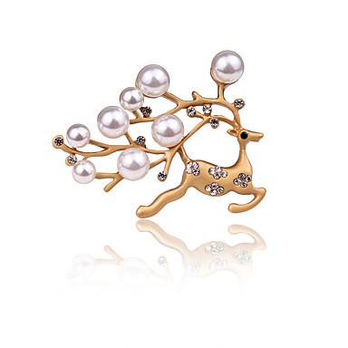 Damen Jungen Andere Broschen Imitierte Perlen Personalisiert Tier Design Euramerican vergoldet Aleación Tier Schmuck Für Alltag Normal