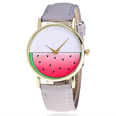 Damen Quartz Armbanduhr Chinesisch Mehrfarbig / Leder Band Glanz Freizeit Einzigartige kreative Uhr Modisch Cool Schwarz Weiß Braun Grün