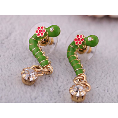Kolczyki koła Kryształ Osobiste euroamerykańskiej Modny Green Biżuteria Na Ślub Impreza Urodziny 1 para