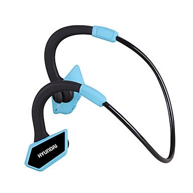 هيونداي سماعة لرياضة اللياقة البدنية الأذن هوك بلوتوث v4.1 مع ميكروفون التحكم في مستوى الصوت والضوضاء-- إلغاء