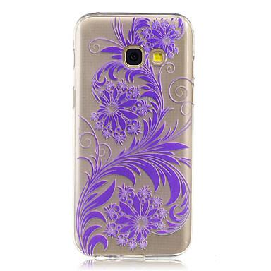 hoesje Voor Samsung Galaxy A5(2017) A3(2017) IMD Transparant Achterkantje Bloem Zacht TPU voor A3 (2017) A5 (2017) A7 (2017) A5(2016)