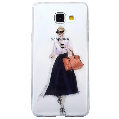 Etui Käyttötarkoitus Samsung Galaxy A5(2017) A3(2017) IMD Läpinäkyvä Kuvio Takakuori Sexy Lady Pehmeä TPU varten A3 (2017) A5 (2017)