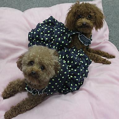 Σκύλος Φορέματα Χριστούγεννα Ρούχα για σκύλους Πριγκίπισσα Μπλε Ύφασμα Στολές Για κατοικίδια Γυναικεία Κλασσικό Χαριτωμένο Καθημερινά