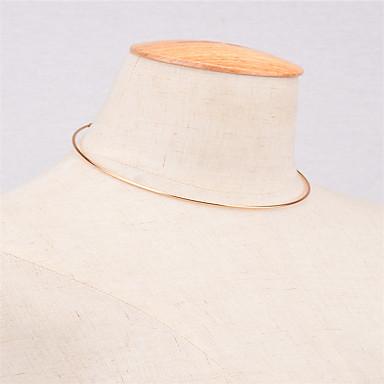 tanie Modne naszyjniki-Damskie Naszyjniki choker Spersonalizowane Moda Euroamerykańskie Miedź Złoty Srebrny Naszyjniki Biżuteria Na Codzienny Casual