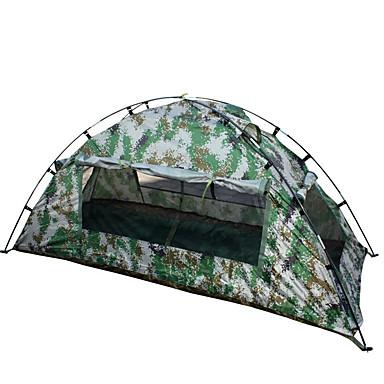 1 persoană Cort Simplu Cort de campare O cameră Cort Pliant Impermeabil Portabil pentru Drumeție Camping 2000-3000 mm Fibră de sticlă