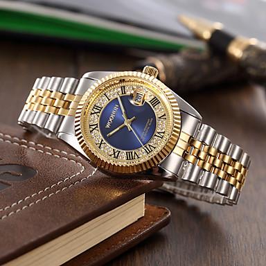 levne Pánské-Pánské Náramkové hodinky Křemenný Stříbro / Zlatá imitace Diamond Analogové Přívěšky Klasické Módní - Černá Fialová Zelená