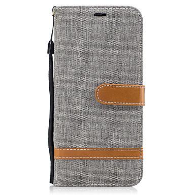 Maska Pentru Samsung Galaxy S8 Plus S8 Portofel Titluar Card Cu Stand Întoarce Corp Plin Linii / Valuri Greu Textil pentru S8 S8 Plus S7