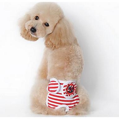 Σκύλος Παντελόνια Ρούχα για σκύλους Χαριτωμένο Μοντέρνα Ριγέ Μαύρο Κόκκινο Μπλε