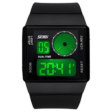 للرجال ساعة رقمية صيني كوارتز أشابة سيليكون فرقة أسود الأبيض أزرق أخضر