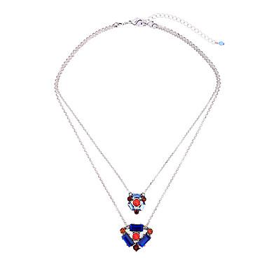 Kadın's Zincir Kolyeler Kristal Moda Kişiselleştirilmiş sevimli Stil Euramerican Mücevher Uyumluluk Düğün Parti