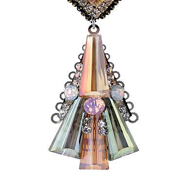 Pentru femei Cristal Personalizat Design Unic Pătrat Euramerican Aliaj Bijuterii Pentru Nuntă Petrecere Zi de Naștere