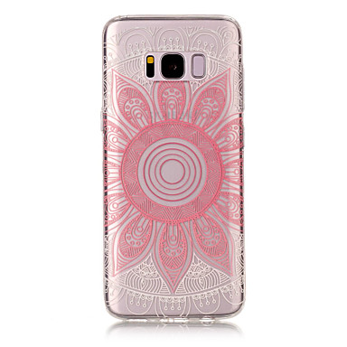 Pouzdro Uyumluluk Samsung Galaxy S8 Plus S8 IMD Şeffaf Temalı Arka Kapak Mandala Yumuşak TPU için S8 Plus S8 S7 edge S7 S6 edge S6 S5