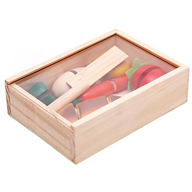 أحجار البناء ألعاب الطعام لعب تمثيلي ألعاب تربوية ألعاب نباتي فاكهة فواكه وخضروات قطاعات الفواكه و الخضار خشب للأطفال 1 قطع