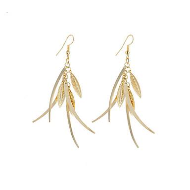 Mulheres Brincos Compridos Jóias Pingente Moda Vintage Estilo Boêmio Estilo simples Elegant bijuterias Prata Chapeada Chapeado Dourado