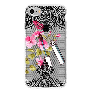Etui Käyttötarkoitus iPhone 7 Plus iPhone 7 iPhone 6s Plus iPhone 6 Plus iPhone 6s iPhone 6 Apple Läpinäkyvä Takakuori Kukka Lace Printing