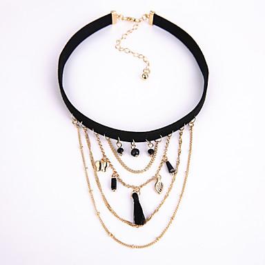 Damen Kreisform Modisch Euramerican Halsketten Aleación Halsketten . Weihnachts Geschenke Hochzeit Party