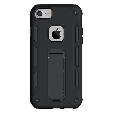 إلى أغط / كفرات ضد الصدمات مع حامل غطاء خلفي غطاء لون صلب درع قاسي PC إلى Appleفون 7 زائد فون 7 iPhone 6s Plus iPhone 6 Plus iPhone 6s