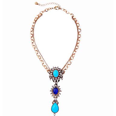 Kadın's Uçlu Kolyeler Damla Eşsiz Tasarım Moda Açık Mavi Mücevher Için Doğumgünü Günlük 1pc