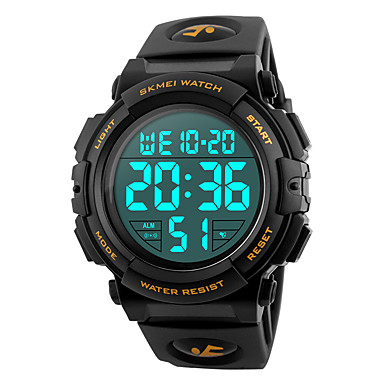 levne Pánské-SKMEI Pánské Sportovní hodinky Vojenské hodinky Náramkové hodinky japonština Silikon Černá / Modrá / Stříbro 50 m Voděodolné Alarm Kalendář Digitální Módní - Červená Zelená Modrá Dva roky Životnost