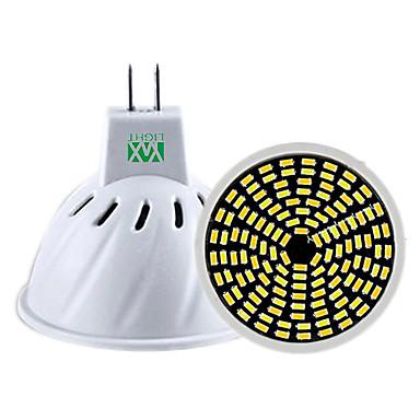 5W GU10 GU5.3(MR16) Żarówki punktowe LED MR16 128 Diody lED SMD 3014 Przysłonięcia Dekoracyjna Ciepła biel Zimna biel Naturalna biel