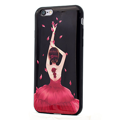 hoesje Voor Apple IMD Patroon Achterkantje Sexy dame Zacht TPU voor iPhone 7 Plus iPhone 7 iPhone 6s Plus iPhone 6 Plus iPhone 6s iPhone