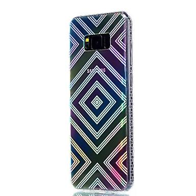 غطاء من أجل Samsung Galaxy S8 Plus S8 تصفيح شبه شفّاف نموذج غطاء خلفي نموذج هندسي ناعم TPU إلى S8 Plus S8 S7 edge S7