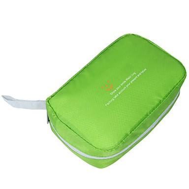 حقيبة معلقة لأدوات التجميل حقيبة أدوات تجميل للسفر حقيبة مستحضرات التجميل منظم أغراض السفر المحمول قابلة للطى تخزين السفر إلى ملابس نايلون
