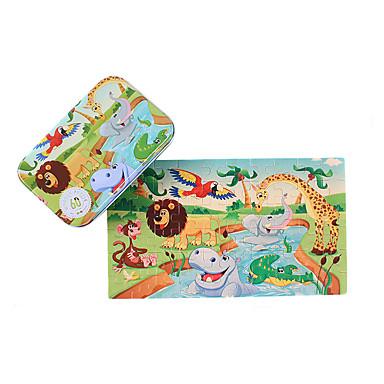 Jucării pentru mașini Puzzle Puzzle Lemn Pătrat Animale Lemn Fier Desen animat Pentru copii Cadou