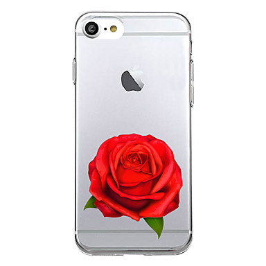 Käyttötarkoitus kotelot kuoret Ultraohut Kuvio Takakuori Etui Kukka Pehmeä TPU varten Apple iPhone 7 Plus iPhone 7 iPhone 6s Plus iPhone