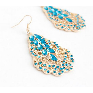 Kolczyki wiszące Multi-kamień Wiszący Modny euroamerykańskiej Kamień szlachetny Niebieski Biżuteria Na Ślub Impreza Specjalne okazje1