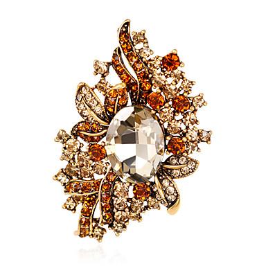 Dame Broșe La modă Euramerican Ștras Aliaj Flower Shape Bijuterii Pentru Nuntă Petrecere Ocazie specială Zilnic