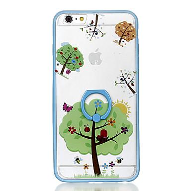 Pentru carcasa transparentă carcasă transparentă carcasă caz copac model hard PC pentru Apple iphone 6s plus iphone 6 plus iphone 6s