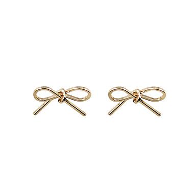 للمرأة فتيات أقراط الزر مجوهرات تصميم فريد هندسي كلاسيكي موضة شخصية مقاومة الحساسية/ هيبوالرجينيك euramerican في بيان المجوهرات سبيكة