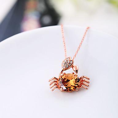 Damskie Naszyjniki z wisiorkami Kryształ Zwierzęta Modny Osobiste euroamerykańskiej Biżuteria Na Ślub Impreza