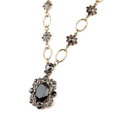 Damskie Naszyjniki z wisiorkami Oval Shape Unikalny Osobiste Black Biżuteria Na 1szt