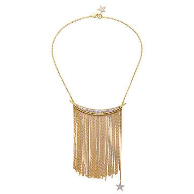 Damskie Naszyjniki z wisiorkami Geometric Shape Przyjaźń Frędzle Osobiste Gold Biżuteria Na Impreza 1szt
