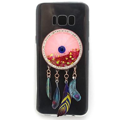 غطاء من أجل Samsung Galaxy S8 Plus S8 حجر كريم سائل متدفق شفاف نموذج غطاء خلفي بريق لماع ناعم TPU إلى S8 S8 Plus S7 edge S7