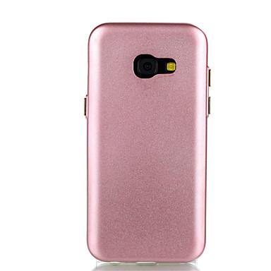 Pouzdro Uyumluluk Samsung Galaxy A5(2017) A3(2017) Kaplama Arka Kapak Tek Renk Yumuşak TPU için A3 (2017) A5 (2017)