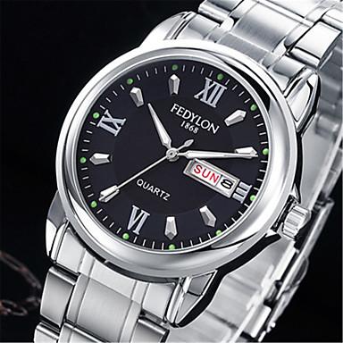 Bărbați Quartz Ceas de Mână Chineză Calendar / Aliaj Bandă Casual Modă Argint