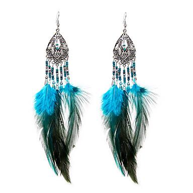 Damen Tropfen-Ohrringe Schmuck Luxus Schmuck mit Aussage Handgemacht Euramerican nette Art Dehnbar Feder Flügel Schmuck Herzliche