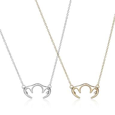 Kadın's Uçlu Kolyeler Mücevher Eşsiz Tasarım Kişiselleştirilmiş Euramerican Moda Altın Gümüş Mücevher Için Düğün Parti 1pc