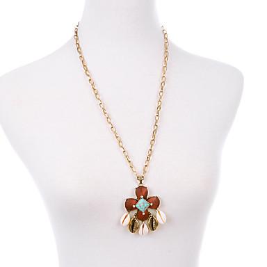 Naisten Riipus-kaulakorut Flower Shape Friendship minimalistisesta Punainen Korut Varten Party 1kpl
