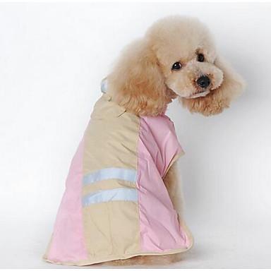كلب معطف المطر ملابس الكلاب جميل مخطط أزرق زهري كوستيوم للحيوانات الأليفة
