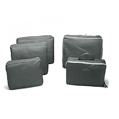5 seturi Geantă Cosmetice Organizator Bagaj de Călătorie Impermeabil Portabil Articole Toaletă Depozitare Călătorie Haine Poliester
