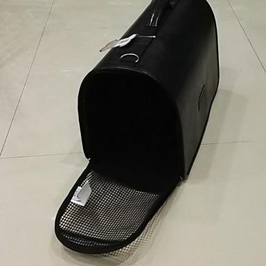 قط كلب الحاملة حقائب تحمل على الظهر وللسفر حيوانات أليفة حاملات المحمول متنفس سادة أسود