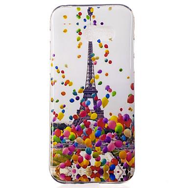 Na Etui Pokrowce IMD Wzór Etui na tył Kılıf Balloon Wieża Eiffla Miękkie Poliuretan termoplastyczny na Samsung Galaxy A3 (2017) A5 (2017)