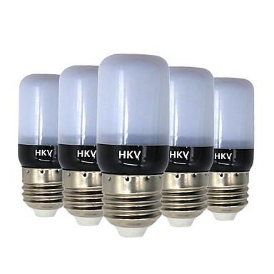 HKV 5pcs 3 W 200-300 lm E14 / E26 / E27 LED-kolbepærer 20 LED Perler SMD 5736 Varm hvid / Kold hvid 220-240 V / 5 stk. / RoHs
