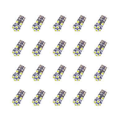 20 stuks t10 8 * 3528 SMD-krijt-decodering LED-lampje wit licht dc12v