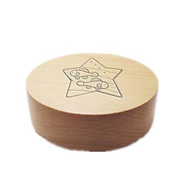 Spieluhr Spielzeuge Kreisförmig Holz Stücke Unisex Geschenk