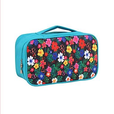 حقيبة مستحضرات التجميل منظم أغراض السفر المحمول سعة كبيرة متعددة الوظائف تخزين السفر إلى ملابس الصدرية نايلون / ورد للمرأة السفر